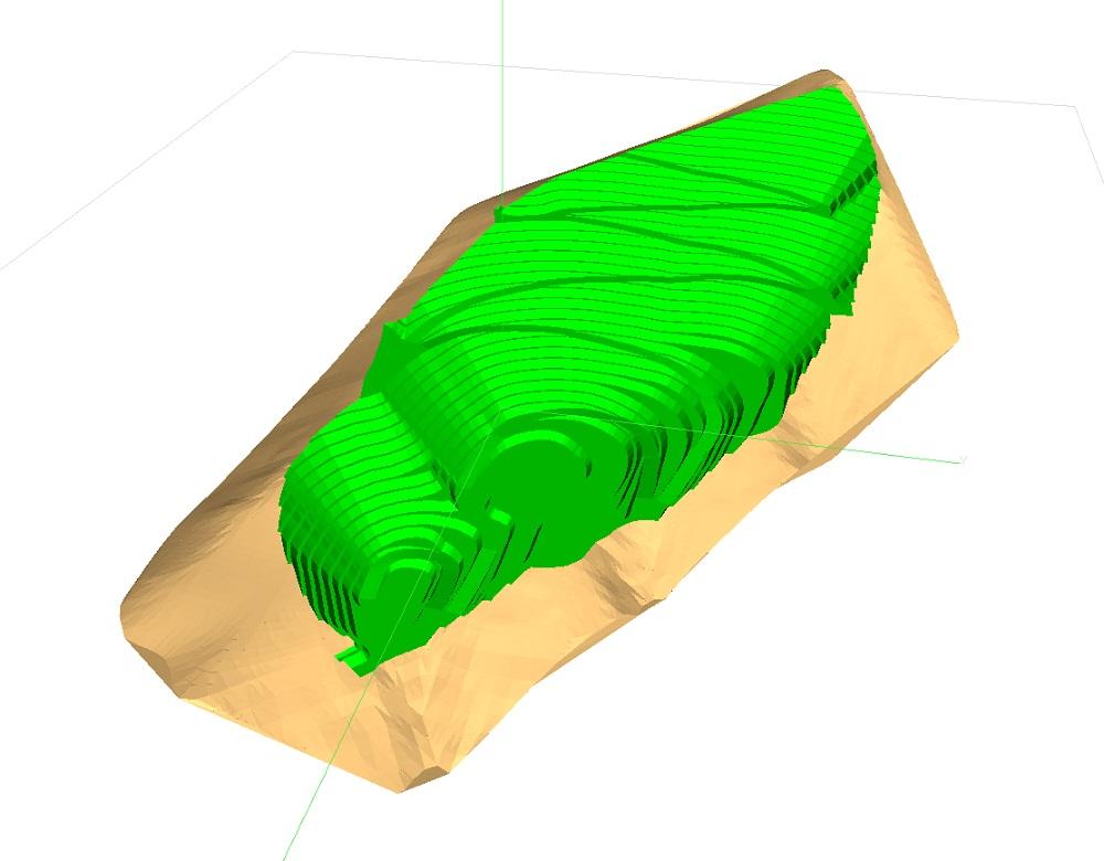 طرح سه بعدی استخراج معدن